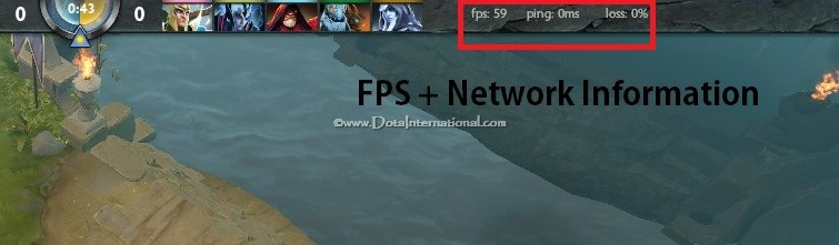 Dota 2 FPS and Pings