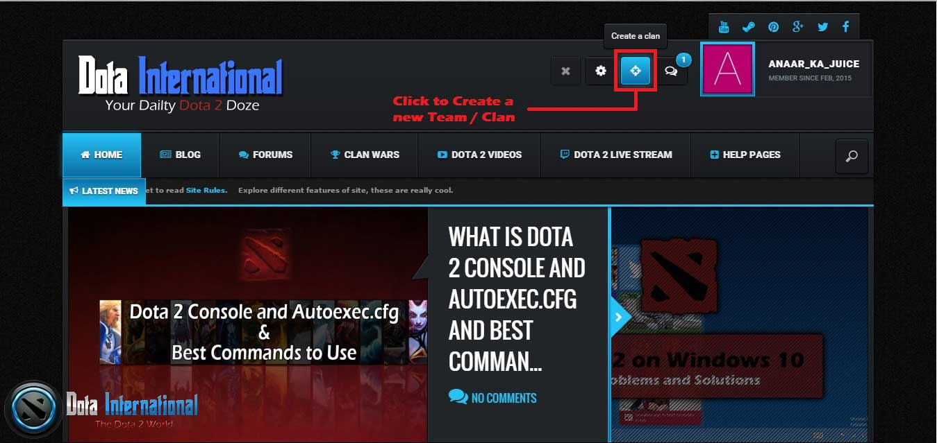 How to Create a Clan / Team in Dota international