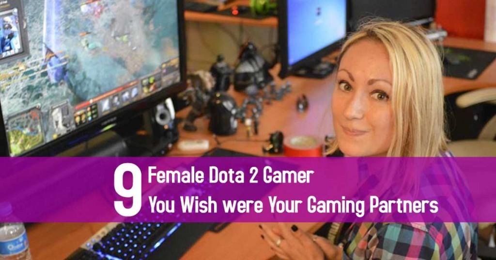 female Dota 2 gamer