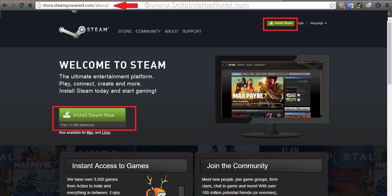 install steam step 2