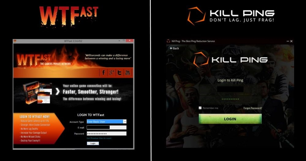 Killping and WTFast Comparison