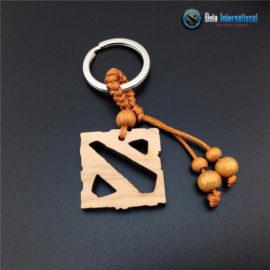 Dota 2 Wooden Logo Keychain