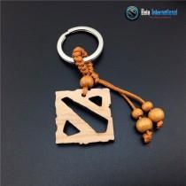 Dota 2 Logo Wooden Keychain